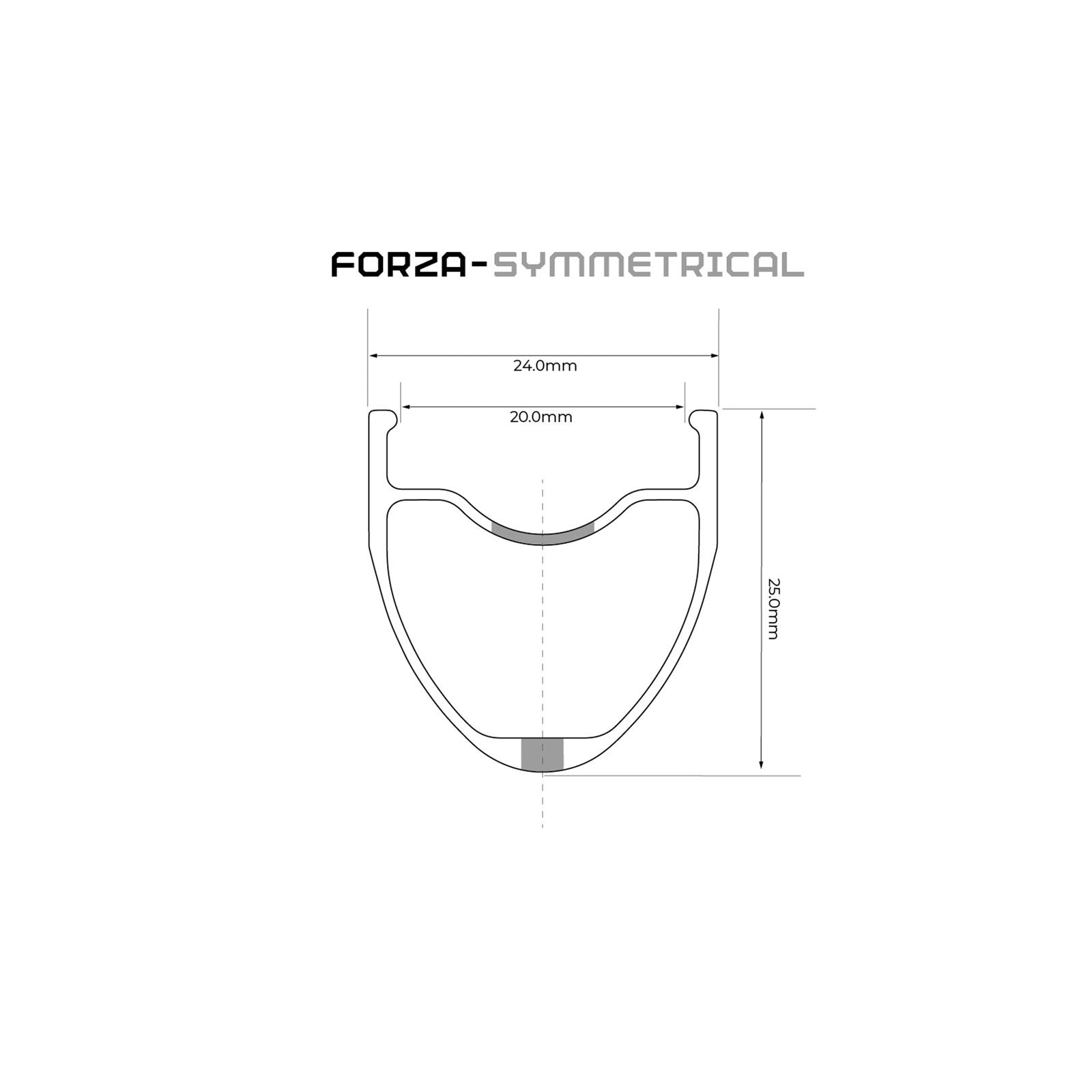 Forza wheelset rim brake 700c