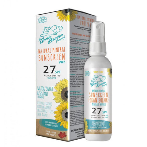 Certified Organic Mineral Spray Sunscreen SPF 27
