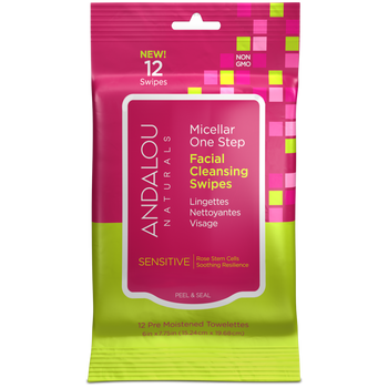 Andalou Naturals-Sensitive Micellar Facial Swipes