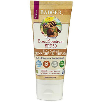 Badger Balm - SPF 30 Sunscreen Cream - Unscented