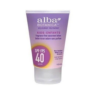 Alba Botanica - Kids Sunscreen Lotion SPF40