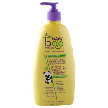 Boo Baby Wash and Shampoo - Unscented - Camomile Beauty