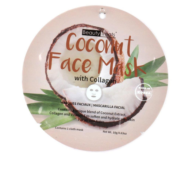 Coconut Face Mask with Collagen - Camomile Beauty - Green Natural Cruelty-free Beauty Shop