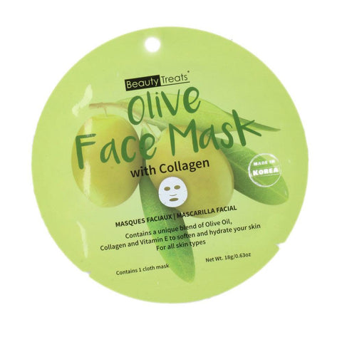 Beauty Treat Olive Face Mask with Collagen