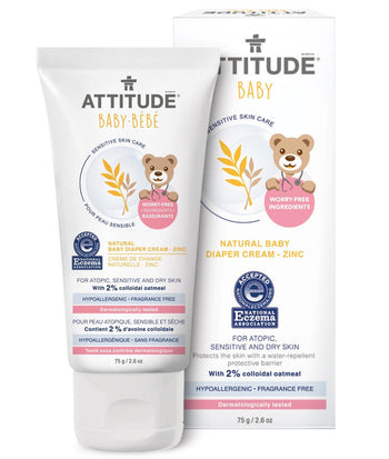 Attitude Living-Natural Baby Diaper Cream - Zinc