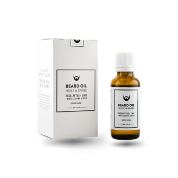 Beard Oil - Eucalyptus, Lime, Pine - Camomile Beauty - Green Natural Cruelty-free Beauty Shop