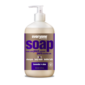 Everyone Soap - 3-in-1 Shampoo, Body Wash & Bubble Bath - Lavender & Aloe Vera