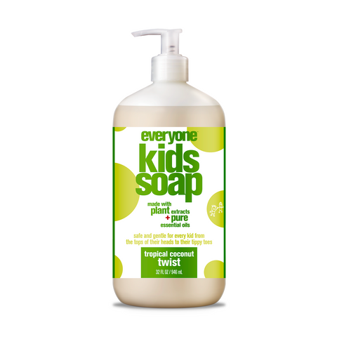 Everyone Soap - Kid 3-in-1 Shampoo, Body Wash & Bubble Bath - Tropical Twist