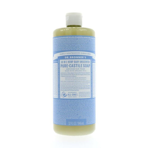 Dr. Bronner-Baby-Unscented Pure-Castile Liquid