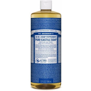 Dr. Bronner-Peppermint Pure-Castile Liquid Soap