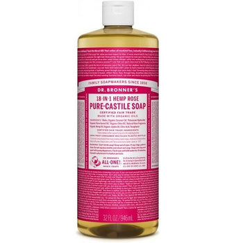 Dr. Bronner-Rose Pure-Castile Liquid Soap