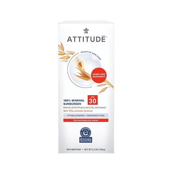 Attitude - Adult Sensitive Sunscreen SPF30