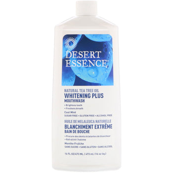 Dessert Essence-Tea Tree Oil Mouthwash Whitening Plus