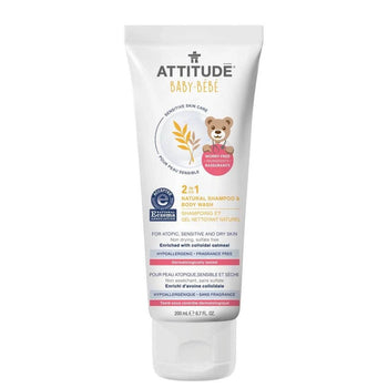 ATTITUDE LIVING-2-In-1 Natural Shampoo & Bodywash