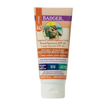 BADGER BALMS-SPF40 Kids Clear Zinc Sunscreen