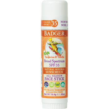 BADGER BALMS-SPF35 Clear Zinc Kid Face Stick