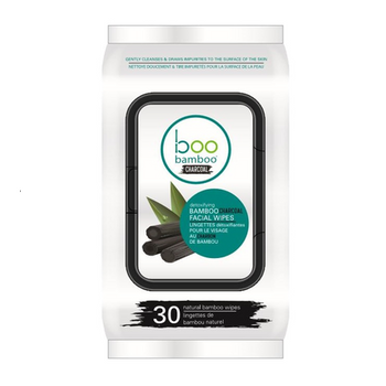 BOO BAMBOO-Charcoal Cleansing Face Wipes