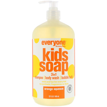 Everyone Soap - Kid 3-in-1 Shampoo, Body Wash & Bubble Bath - Orange Squeeze