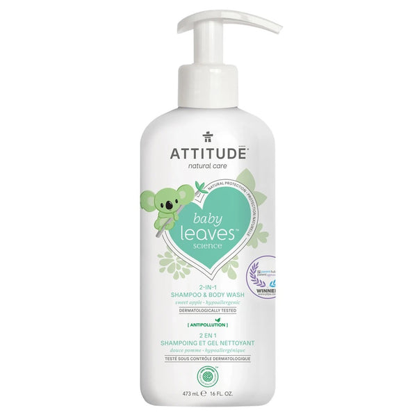Attitude - 2-In-1 Shampoo and Body Wash - Sweet Apple