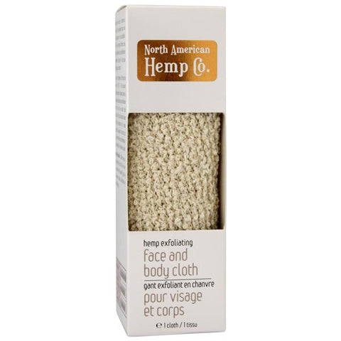 North American Hemp Hemp Exfoliating Face Cloth