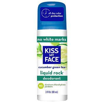 Kiss My Face Liquid Rock Cucumber Green Tea Roll On Deodorant