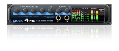 MOTU 4pre FireWire/USB2 6 x 8 compact Audio Interface