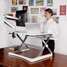 Loctek / Flexispot M1W Sit-Stand Desk In White **FREE SHIPPING**