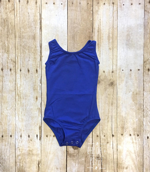 Royal Blue Tank Top Leotard