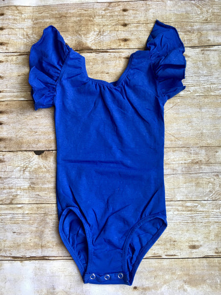 Royal Blue Flutter Sleeve Leotard