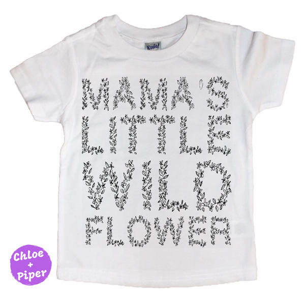Mamas Little Wildflower Tee