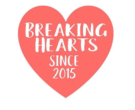 Breaking Hearts Monogram - Customize Date!