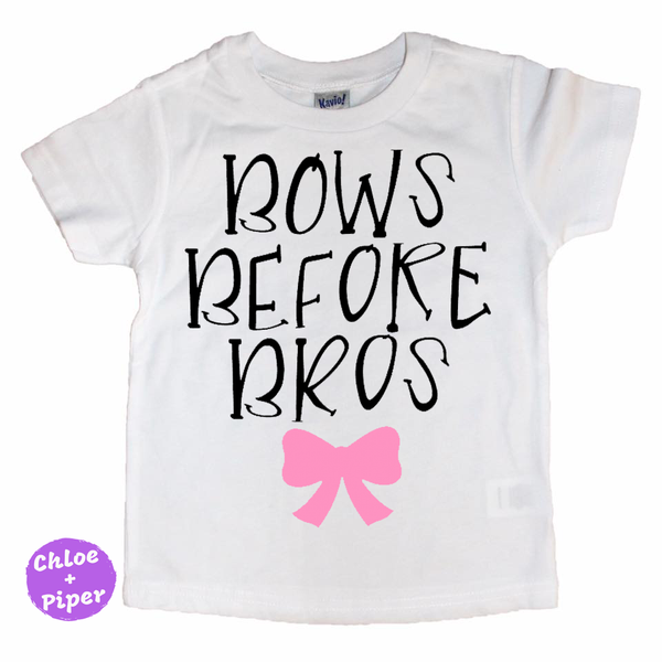 Bows Before Bros Tee - I Can't Toddler Today™ - Toddler Apparel