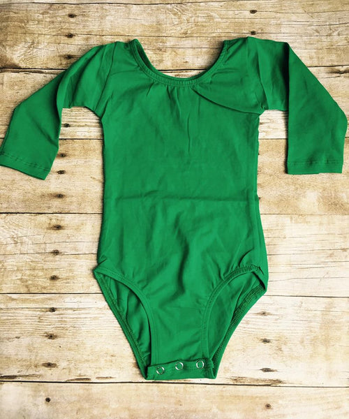 Emerald Green Long Sleeve Leotard