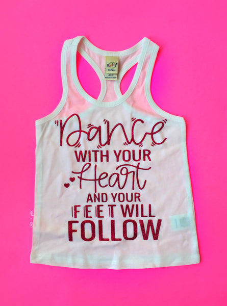 Dance with your heart razorback tank