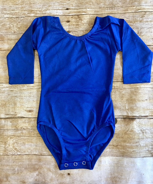 Royal Blue Long Sleeve Leotard