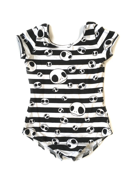 Striped Jack Cap Sleeve Leotard (read description) - Scoop Back