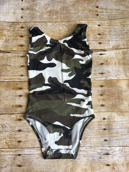 Camo Tank Top Leotard