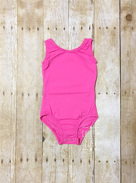 Hot Pink Tank Top Leotard