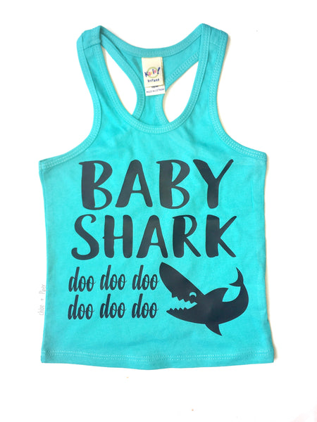 Baby Shark Razorback Tank - I Can't Toddler Today™ - Toddler Apparel