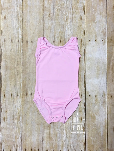 Baby Pink Tank Top Leotard
