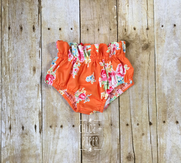 Orange Bouquet Picnic High Waisted Bloomer - size up