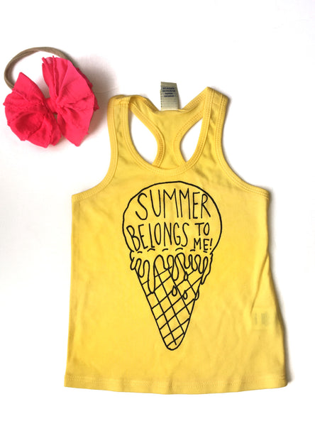 Summer Ice Cream Cone Razorback Tank