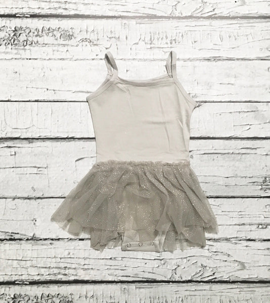 Gray Glitter Tutu Dress - SIZE UP