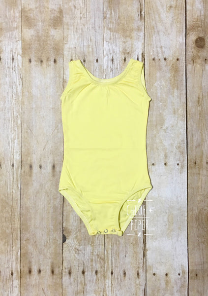 Light Yellow Tank Top Leotard