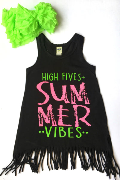 High Fives Summer Vibes Fringe Dress