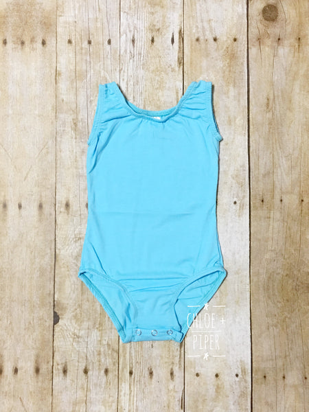 Sky Blue Tank Top Leotard
