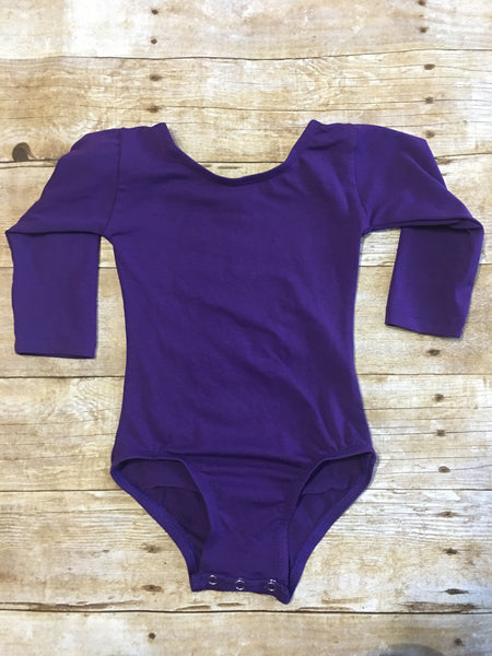Purple Long Sleeve Leotard