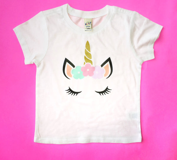 Unicorn Face Tee - I Can't Toddler Today™ - Toddler Apparel