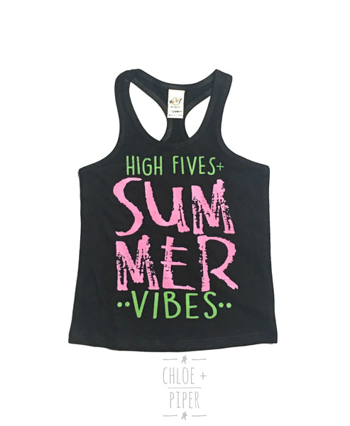 High Fives Summer Vibes Razorback Tank