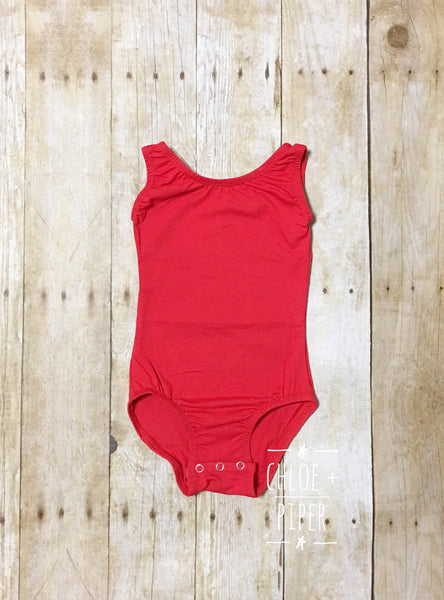 Red Tank Top Leotard